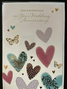 Sister & Brother-in-Law on Your Anniversary (Greeting Card)