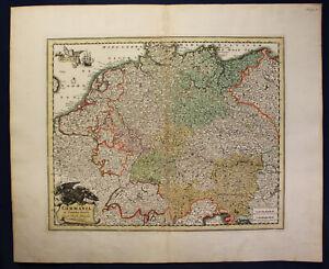 Mapa-grabado-de-Kauffer-a-Weigel-Germania-en-circulos-divisa-para-1700-SF