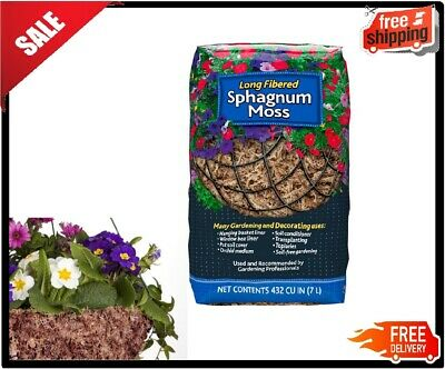 Long Fibered Organic Sphagnum Moss 432 Cu In For Soil Free Gardening