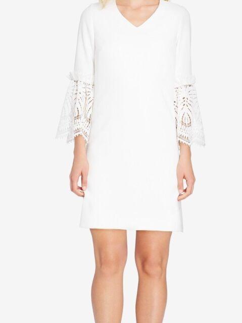 ff9685cd70a9 Tahari ASL Crochet-Contrast Shift Dress MSRP $168 Size 12 # 1A 38 Blm