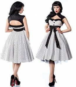 b0981fcdc96 Das Bild wird geladen Sexy-50er-Jahre-Pin-Up-Vintage-Rockabilly-Kleid-