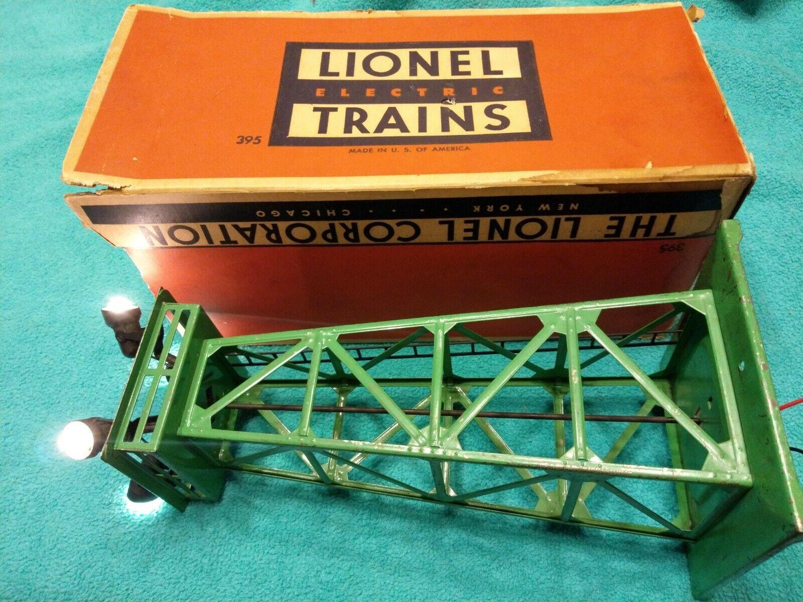 Lionel 395 verde Floodlight Tower with Original scatola