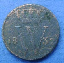 Nederland - The Netherlands 1832 U halve cent, 1/2 cent, Willem 1. KM# 51.