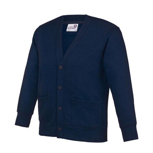 Awdis AC02J Kids Academy Comfortable Setin Sleeve Cardigan Size 3//4-11//12 Years