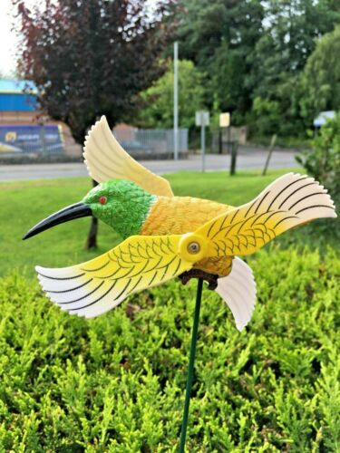 whirlygig garden ornament wind spinner garden windmill Kingfisher whirligig