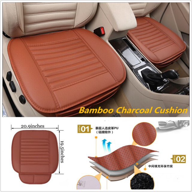 Unique Breathable Bamboo Charcoal Car Seat Cushion Cover Full Surround Seat Pad