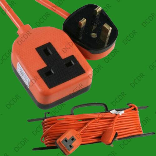 bs 1363 10m heavy duty caoutchouc secteur britannique plomb câble d/'extension 13A 1 gang prise