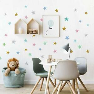 Star-Shape-Wall-Stickers-Kids-Girls-Boys-Bedroom-Baby-Nursery-Stars-Vinyl-Decal