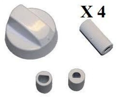 Universel adapte INDESIT blancs pour cuisinière four et plaque de cuisson Bouton de Commande /& Adaptateur X 4