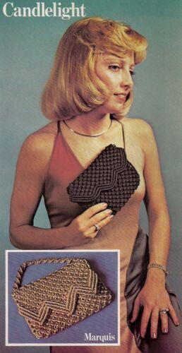 Maxi-Bag 1976 Macrame Shoulder Bag Purse Strings Patterns Instruction Book 7119