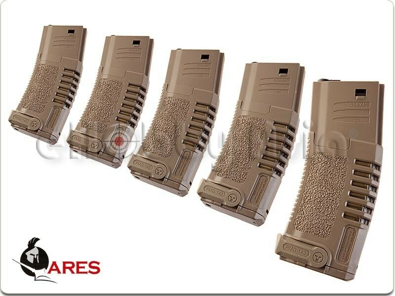 ARES Amoeba 140rd High Grade Mid-Cap ABS Magazine for M Series Airsoft AEG [5PCS