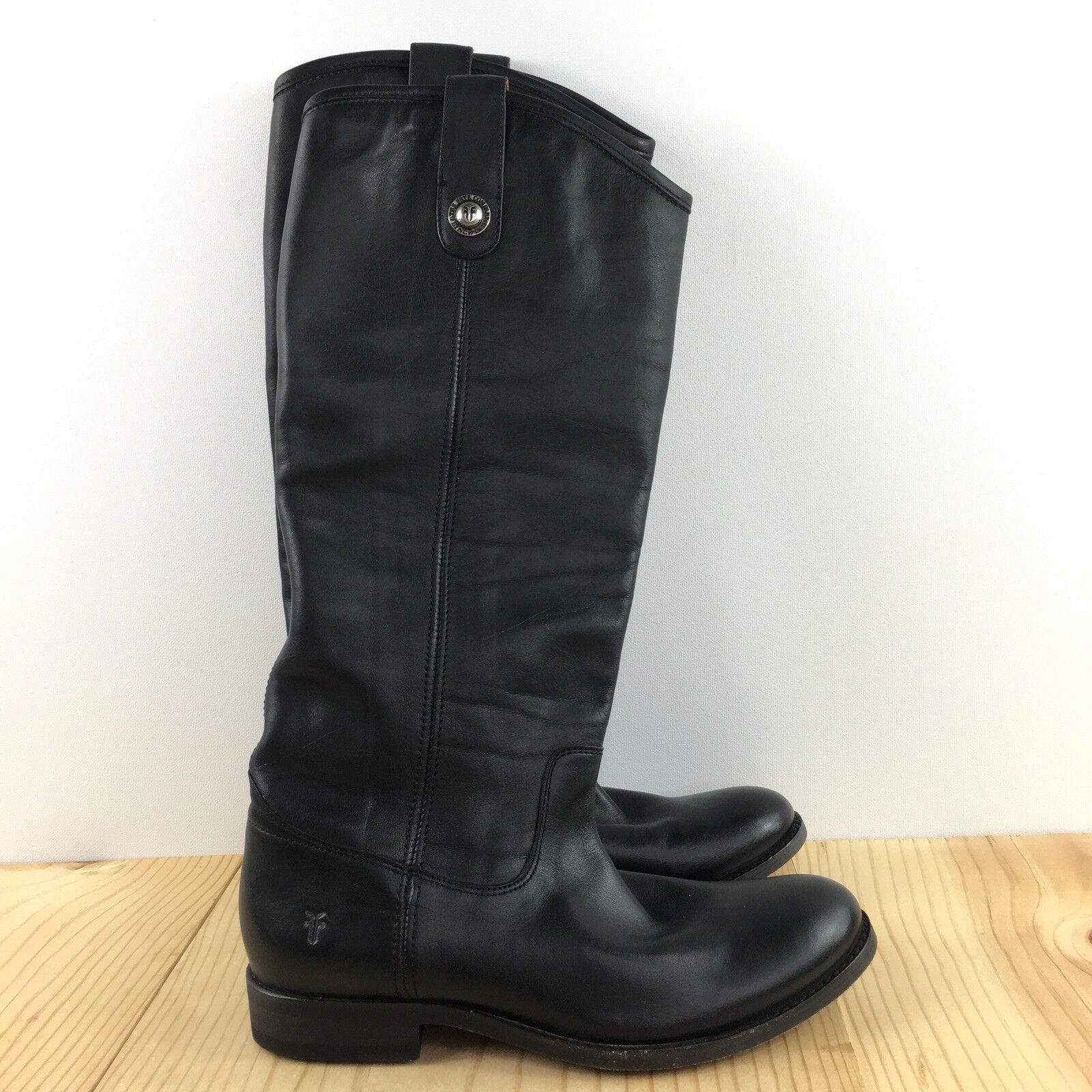per poco costoso Frye Melissa Button Tall Dimensione 6 B donna stivali stivali stivali nero  MSRP  368  prezzi equi