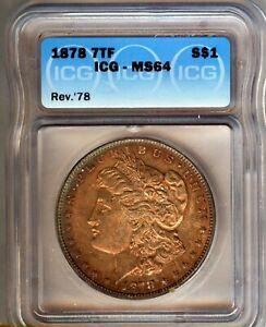 1878-P-7tf-Morgan-Silver-1-ICG-MS64-NICE-TONING-LOOKS-BETTER