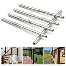 Stainless Steel Swage Lag Screws T316 Right Threaded For 18 Cable Railing