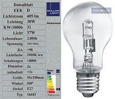 10x Sonderposten 30W Halogen Glühbirne E27 (37W Licht) Glühlampe Halogenlampe