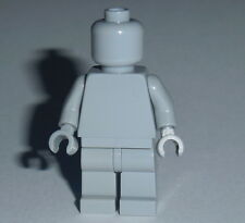 STATUE MINIFIG Lego Solid-Plain LIGHT BLUISH GREY NEW (Genuine Lego) Monochrome