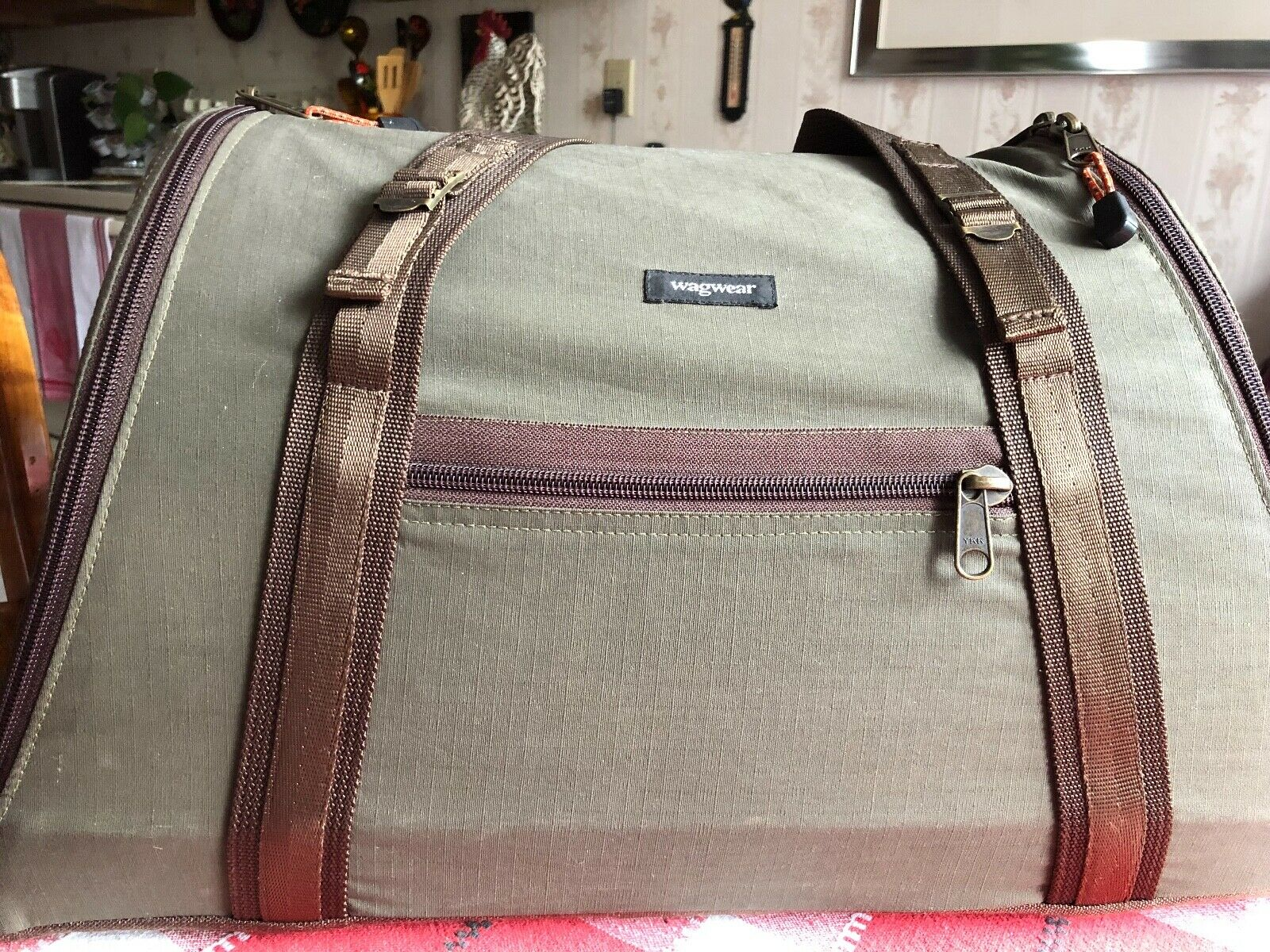 WAGWEAR COTTON RIPSTOP PET CARRIER AIRLINE APPROVED VERY GOOD CONDITION