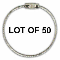Stainless Steel Screw Cable Loop Luggage Tag 6 Inches Lot Of 50 Olt-01-09-50