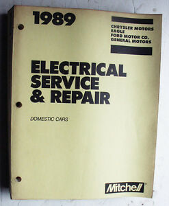 1989 domestic cars mitchell electrical service, repair \u0026 wiring Bruno Wiring Diagram image is loading 1989 domestic cars mitchell electrical service repair amp