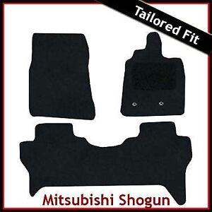 Mitsubishi-Shogun-Mk4-2007-onwards-Tailored-Carpet-Car-Floor-Mats-BLACK