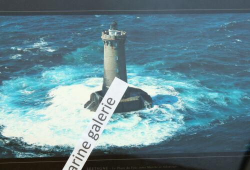 phare breton du four vagues déco marine poster photo couleurs panoramique 67cm