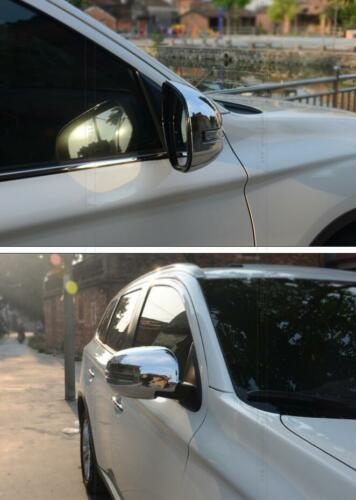 Side Mirrors Rearview Trim Cover 2pcs For Mitsubishi Outlander 2013-2016 2017
