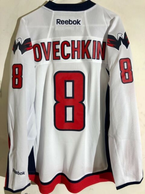 Reebok Premier NHL Jersey Washington Capitals Alexander Ovechkin White Alt  sz L 246ebd404