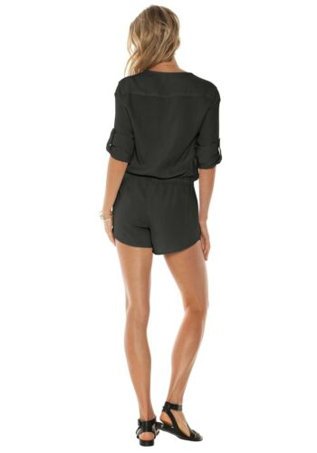 Shade Sleeve Cross Front Long Romper amp; Szs Stone Night Cloth New cTB7gg