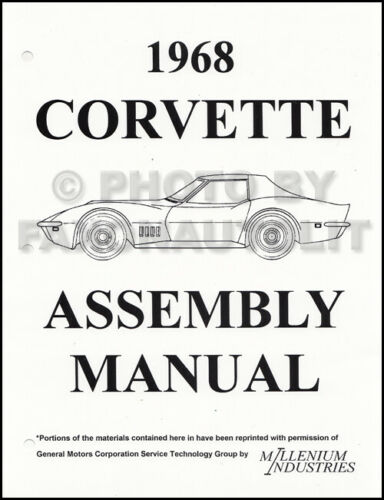 1968 Corvette Factory Assembly Manual 68 Exploded Views of Chevy Parts