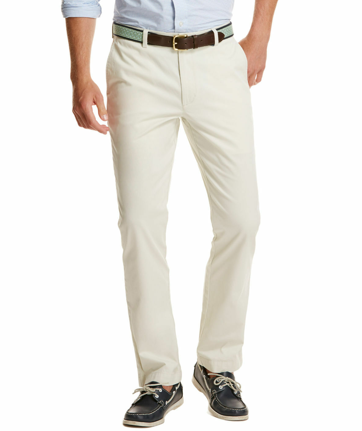 VINEYARD VINES White Cotton Pants 42 x 27 Slim Fit Breaker
