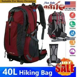 40L Outdoor Travel Hiking Camping Backpack Waterproof Rucksack Trekking Bag 420D