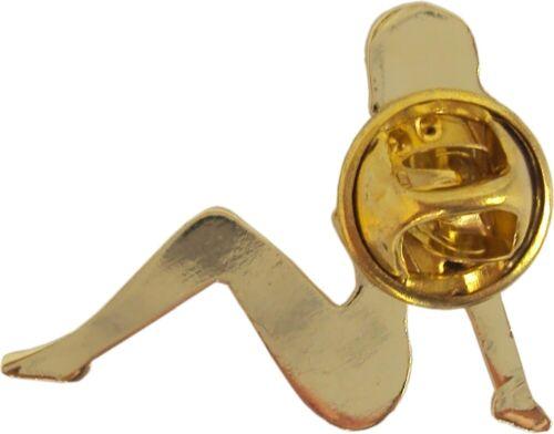 47011 Gold Trucker Babe ENAMEL PIN Badge Button Lapel Mudflap Girl Pin-up NEW
