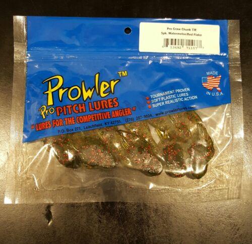 Prowler Pro Craw Chunk 5 pkg Watermelon Red Flake
