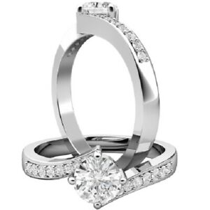0.67 Ct Round Cut Moissanite Engagement Superb Rings 18K Real White Gold Size 6