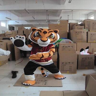 Cute tiger Mascot Costume Fancy Party Cos Dress dance Adult Size Suit Animal