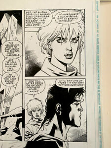 SUPERMAN-ALIENS: original art by Dan Jurgens and Kevin Nowlan! 1995