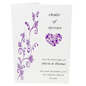 Personalised-Wedding-Order-of-service-cover-only-Any-colour-designs-FREE-P-P
