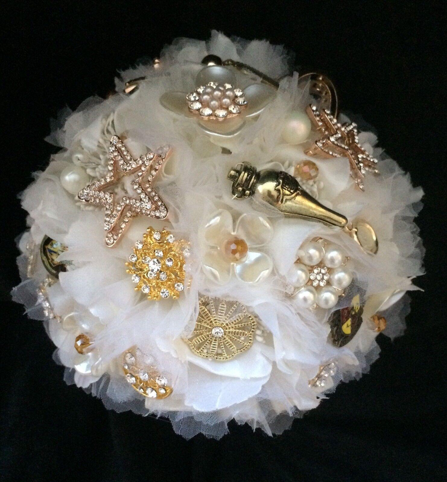 ️ Wedding Bridal Bouquet Harry Potter Theme Brooches Sparkles & Buttonhole