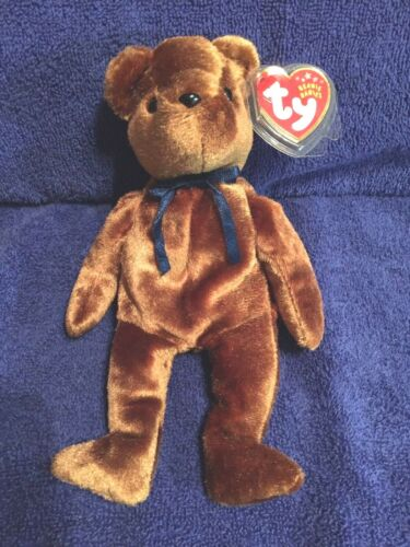 TED-e Bear TY Beanie Baby Old Face Bear MWMT Free Shipping