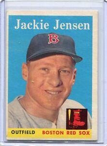 Details About 1958 Topps Baseball Card Jackie Jensen Boston Red Sox Near Mint 130