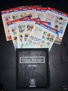 Celebrate-The-Century-Complt-Set-of-10-Mint-NH-Sheets-3182-3191-Free-Binder