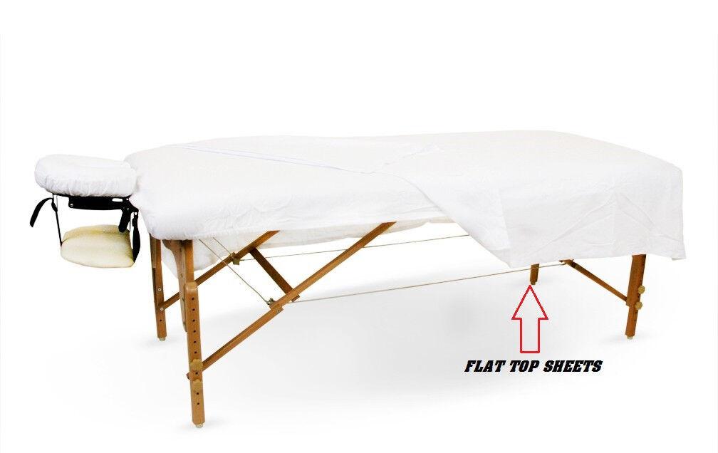 6 new white massage table flat draw sheets muslin t130 54x80