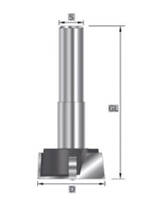 HM HW- Kunstbohrer Z=2+2 Vorschneider+Räumer Rechtslauf  GL=90 mm SK1460 Bohrer