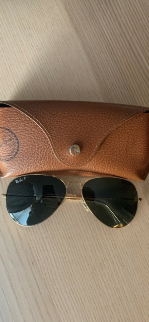 Solbriller unisex, Ray Ban, Ray Ban aviator green classic…