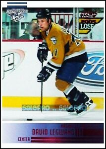 PACIFIC-2004-DAVID-LEGWAND-NHL-NASHVILLE-PREDATORS-RARE-RED-RUBY-MINT-CARD-148