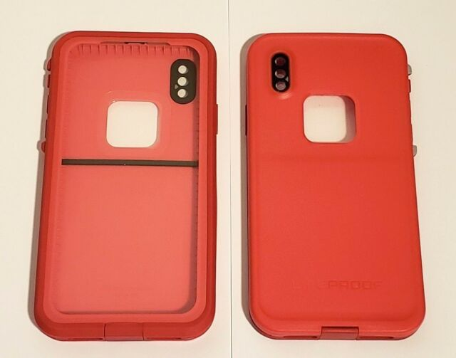 new product ba325 259e9 LifeProof Fre Series Waterproof Protection Case for iPhone X Fire Run Red  Hl128