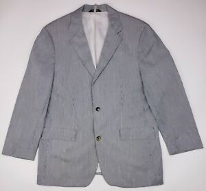 Hugo-Boss-Lightweight-Sport-Coat-44R-Silk-Cotton-Seersucker-Blue-White-Striped