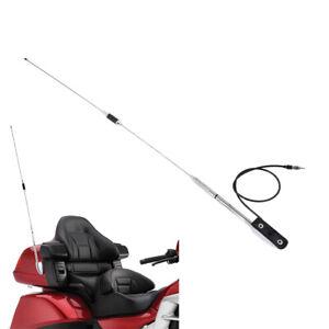 Chrome-Antenna-Kit-Audio-Comfort-For-Honda-Goldwing-GL-1800-GL1500-2001-2017