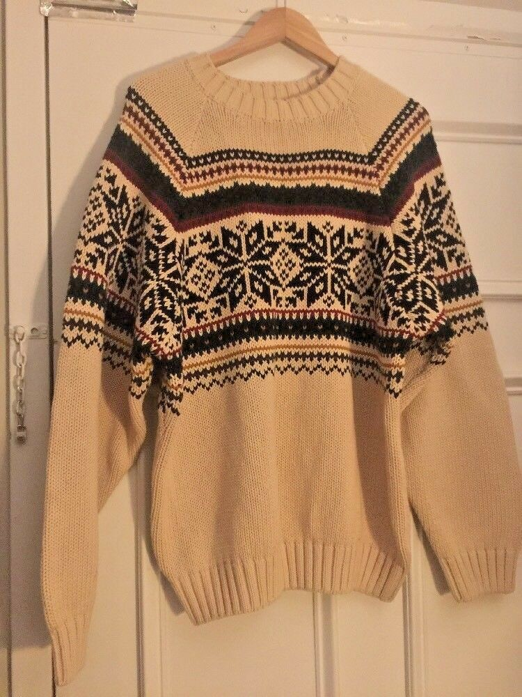 VTG Tommy Hilfiger 90's Color Striped Crewneck Knit Men's Sweater Sz XL