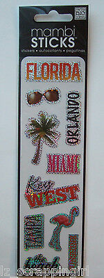 Mambi Sticks ~FLORIDA~ Stickers; Orlando Disney World Miami Tampa Key West Beach